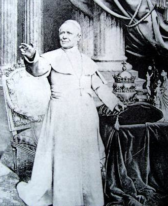 Pope Pius IX with his jewel-encrusted tiara