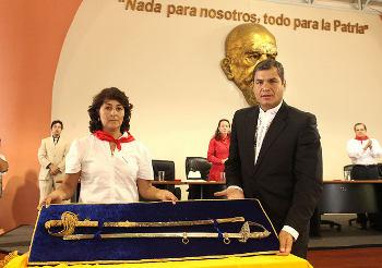 Centenary Commemoration with President Rafael Correa - 2012